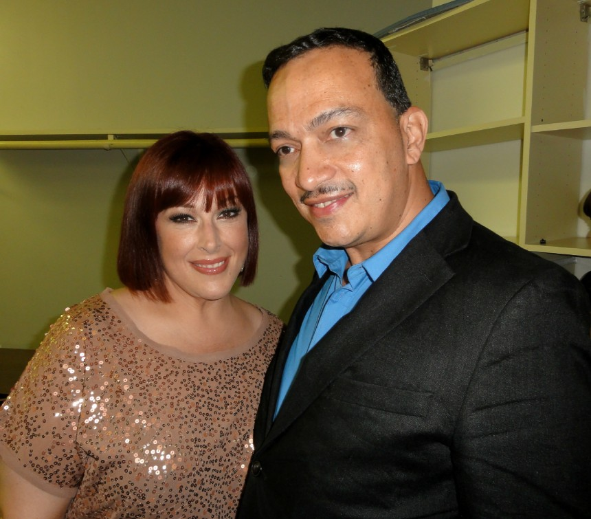 Anthony Rubio with Carrie Wilson backstage before their concert