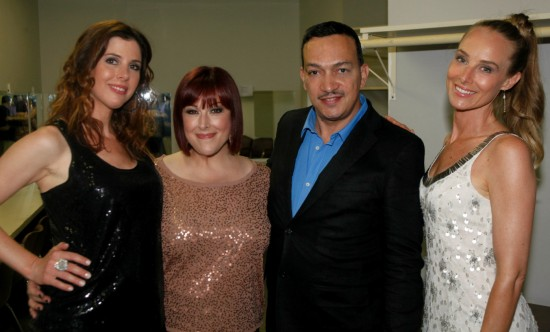 Anthony Rubio with Wilson Phillips backstage before their concert