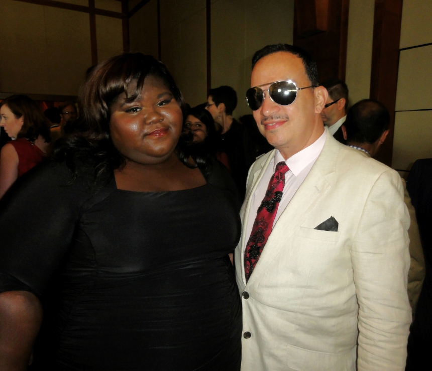 Anthony Rubio and Gabourey Sidibe at The Trevor Project's 2013 TrevorLIVE New York