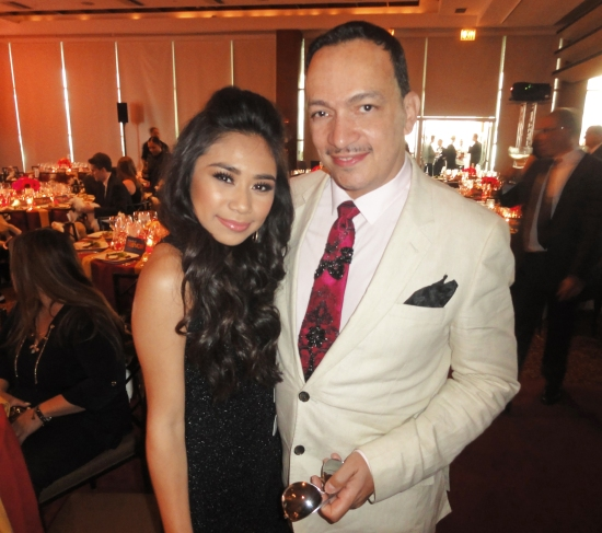Anthony Rubio and Jessica Sanchez at The Trevor Project's 2013 TrevorLIVE New York