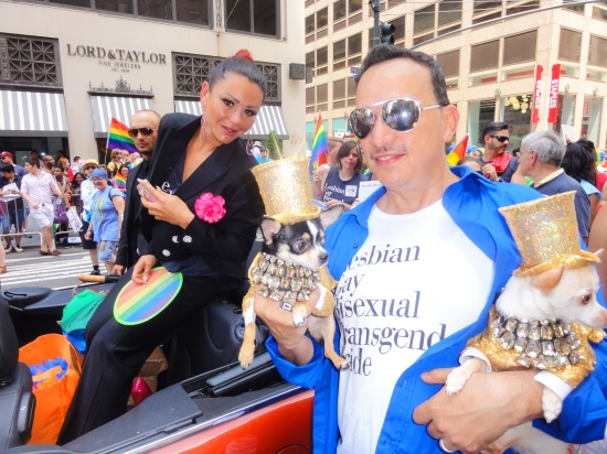 Anthony Rubio with  Jennifer JWOWW Farley at The March during NYC Pride 2013