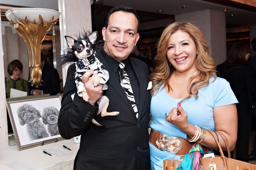 Anthony Rubio with Bogie and Suica Patricia  at New Rochelle Humane Society's annual Paws for A Heart Gala