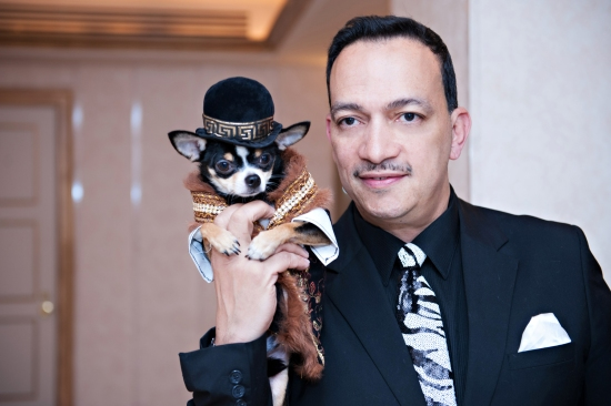 Anthony Rubio with Bogie at New Rochelle Humane Society's annual Paws for A Heart Gala