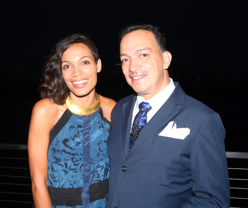 Anthony Rubio and Rosario Dawson at the Watermark launch party.