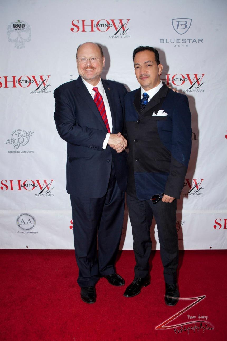 Anthony Rubio with2013 New York City mayoral candidate Joe Lhota (Photo by Yoni Levy)