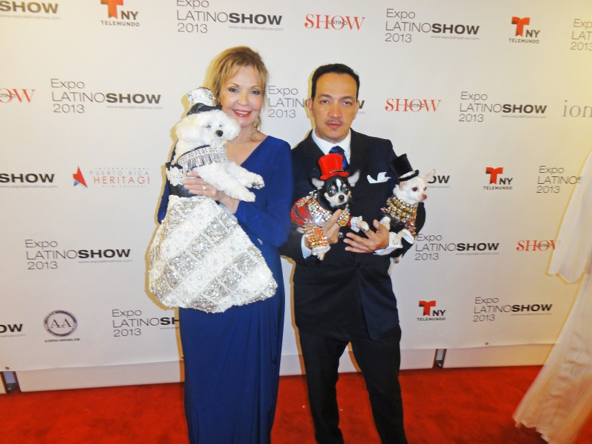Anthony Rubio holding Bogie & Kimba with Rose Ann holding Bella Mia