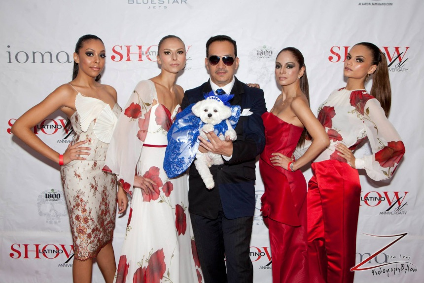 Anthony Rubio and the models of his runway show.