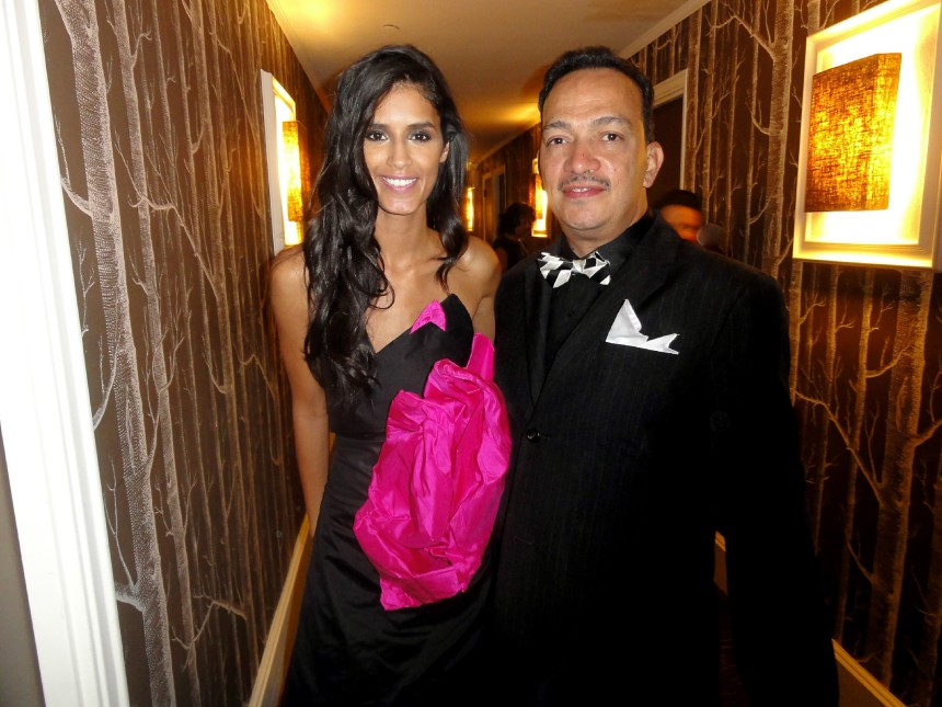 "Anthony Rubio with model Jaslene Gonzalez at ""Real Fashion, Real Women"" Runway Show"
