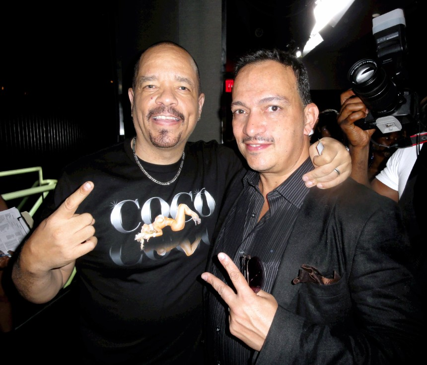 Anthony Rubio with Ice-T at Coco Austin's Licious Apparel Fashion Runway Show