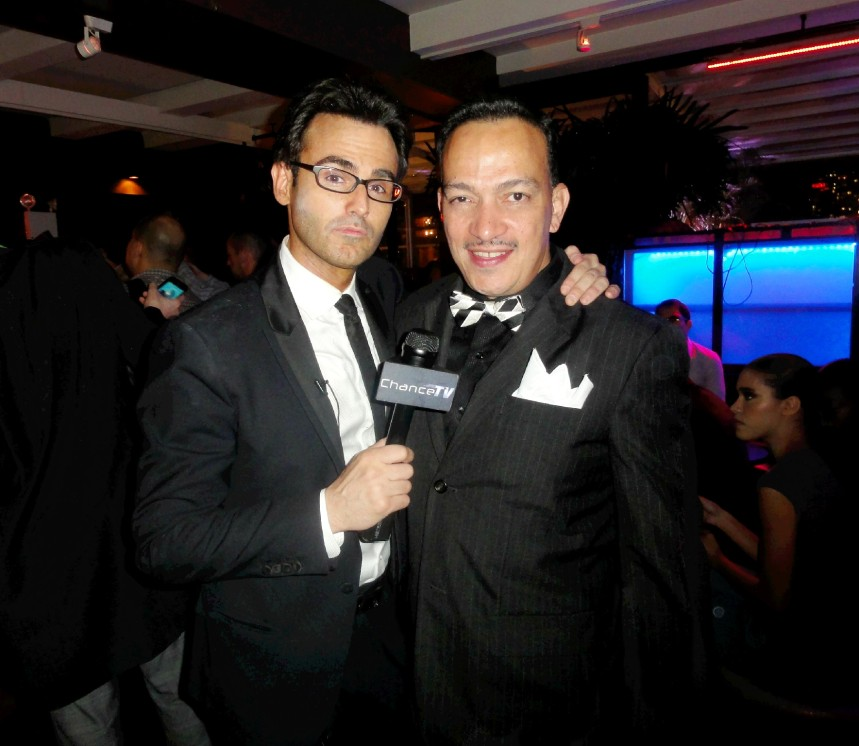 "Anthony Rubio with Chance Spiessbach  of ChanceTV at ""Real Fashion, Real Women"" Runway Show"