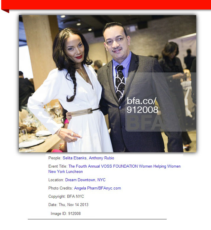 Anthony Rubio with host Selita Ebanks at the VOSS Foundation Women Helping Women benefit