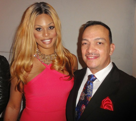 Anthony Rubio with Lavern Cox at the 19th Annual Out100 Awards presented by Buick at Terminal 5