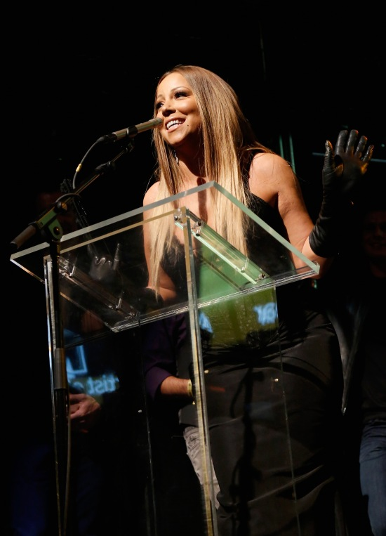 Mariah Carey speaks onstage at the 19th Annual Out100 Awards presented by Buick at Terminal 5
