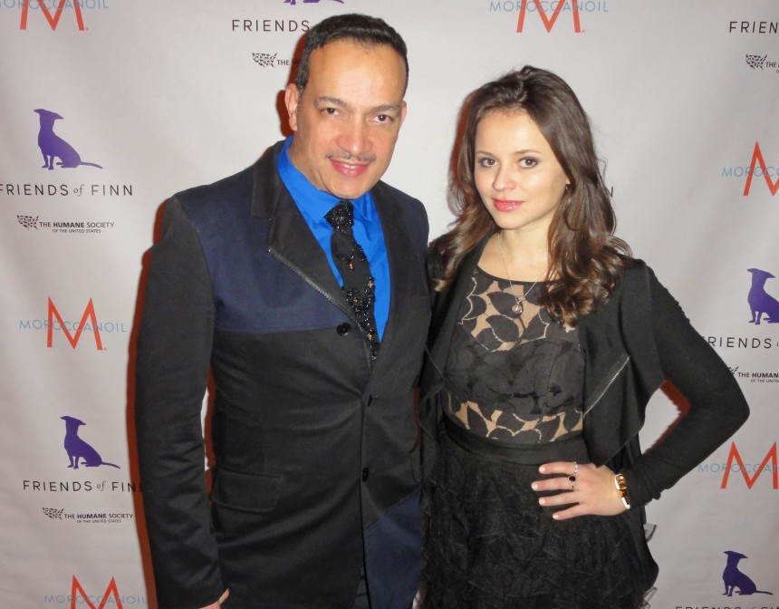 Anthony Rubio with Sasha Cohen at Humane Society of the United States annual To the Rescue! party