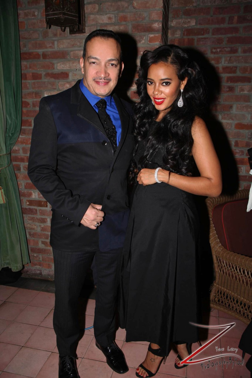Anthony Rubio with Angela Simmons at Humane Society of the United States annual To the Rescue! party