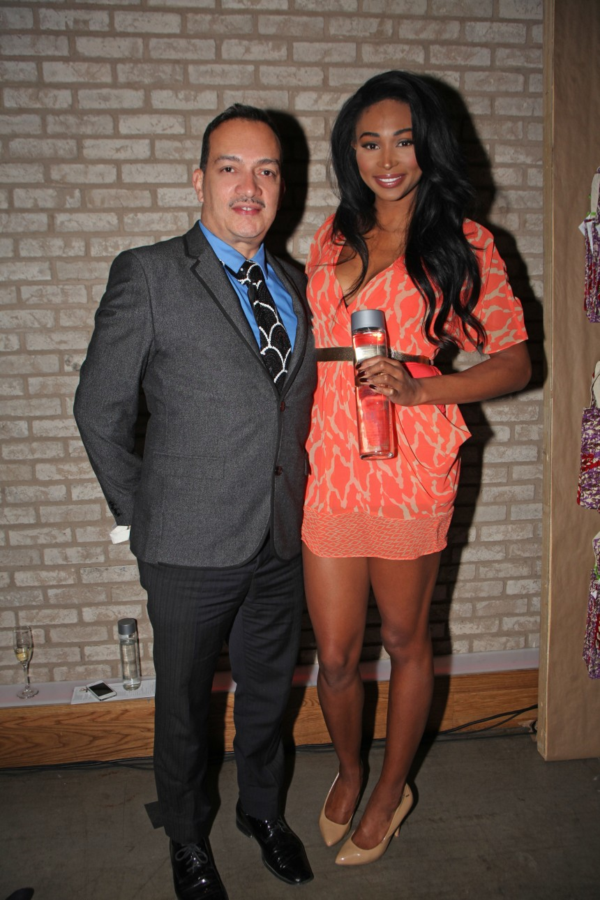 Anthony Rubio with Nana Meriwether, Miss USA 2012 at VOSS Foundation Women Helping Women benefit