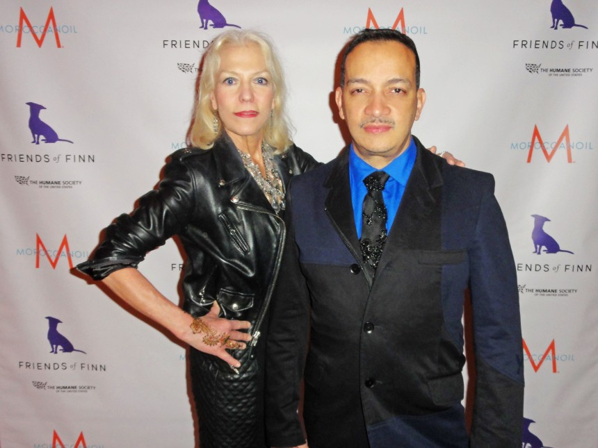 Anthony Rubio with Grace Forster at Humane Society of the United States annual To the Rescue! party