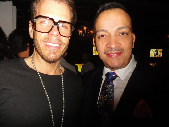Anthony Rubio with Perez Hilton at the 19th Annual Out100 Awards presented by Buick at Terminal 5