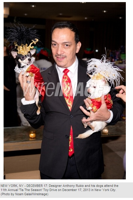 "Anthony Rubio with Bogie & Kimba at The 11th Annual ""Tis The Season"" Toy Drive"