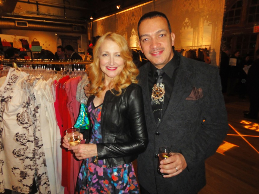 Patricia Clarkson and Anthony Rubio at Housing Works 10th Annual Fashion For Auction Benefit