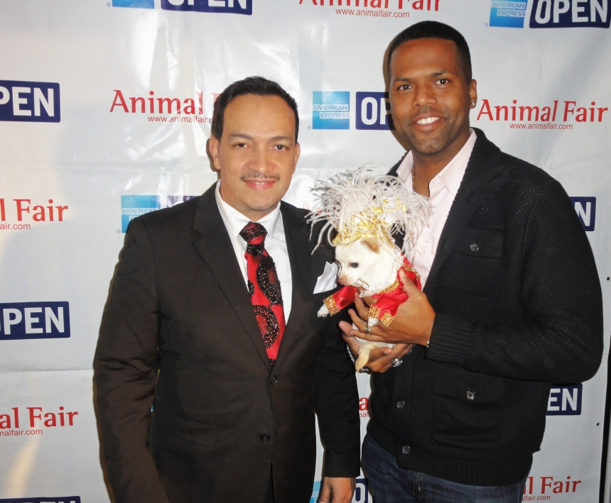 Anthony Rubio and A.J. Calloway at Animal Fair Magazine's 10th Annual Toys for Dogs Holiday