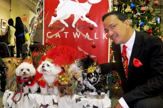 Anthony Rubio with his models at 2nd Annual Tinsel & Tails by Celebrity Catwalk