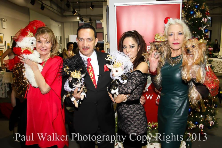 Rose Ann, Anthony Rubio, Ivon Reyes and Grace Forster at 2nd Annual Tinsel & Tails by Celebrity Catwalk (Photo by Paul Walker)