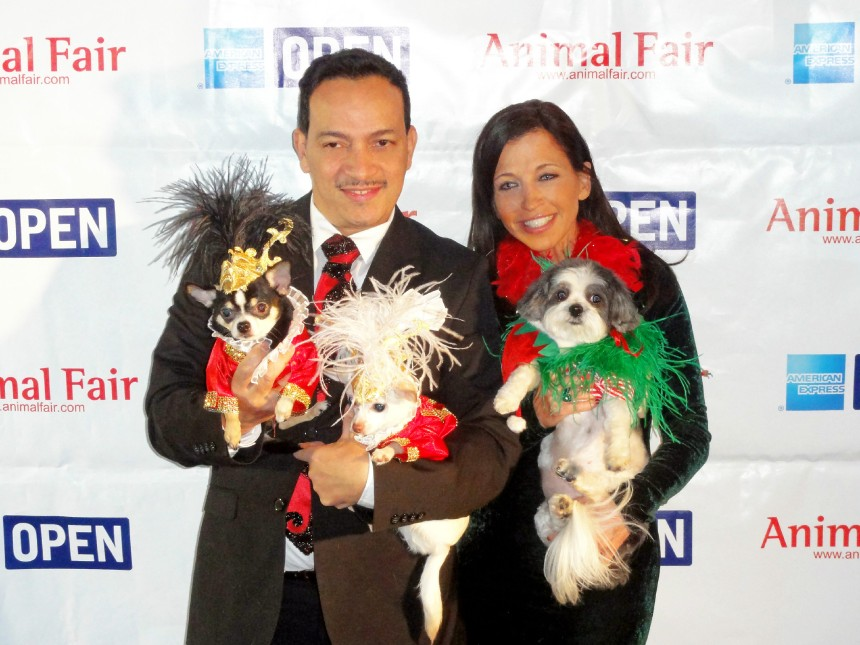 Anthony Rubio and Wendy Diamond at  Animal Fair Magazine's 10th Annual Toys for Dogs Holiday