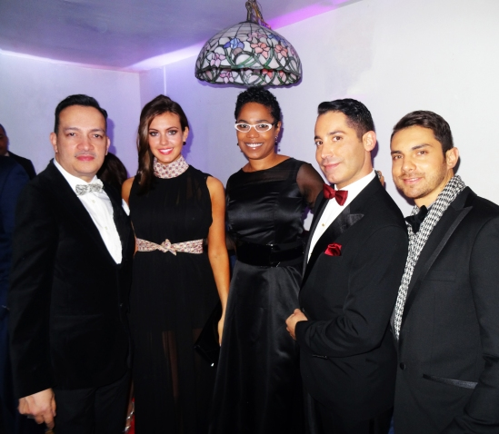 Anthony Rubio, Miss USA Erin Brady, Esther Swan at The 2nd Annual Latino Show Magazine Awards