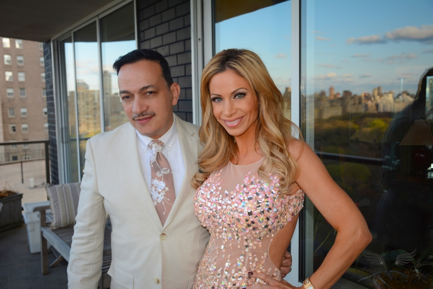 Anthony Rubio with host Jill Nicolini at Celebrity Catwalk's Penthouse Party Paws In The City