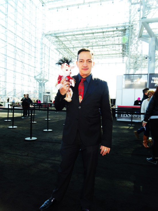 Anthony Rubio with Kimba attend the International Beauty Show at the Javits Center