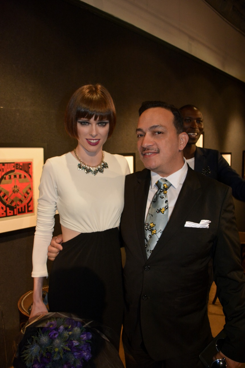 Anthony Rubio with Coco Rocha at FashionSpeaks : The Art of Modeling at the National Arts Club