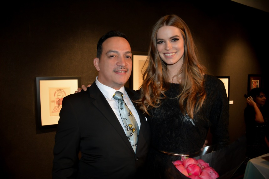 Anthony Rubio with Robyn Lawley at FashionSpeaks : The Art of Modeling at the National Arts Club in NYC