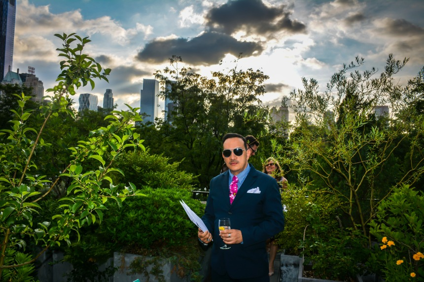 "Anthony Rubio attends Horticultural Society of New York's ""Auction Art Work"""