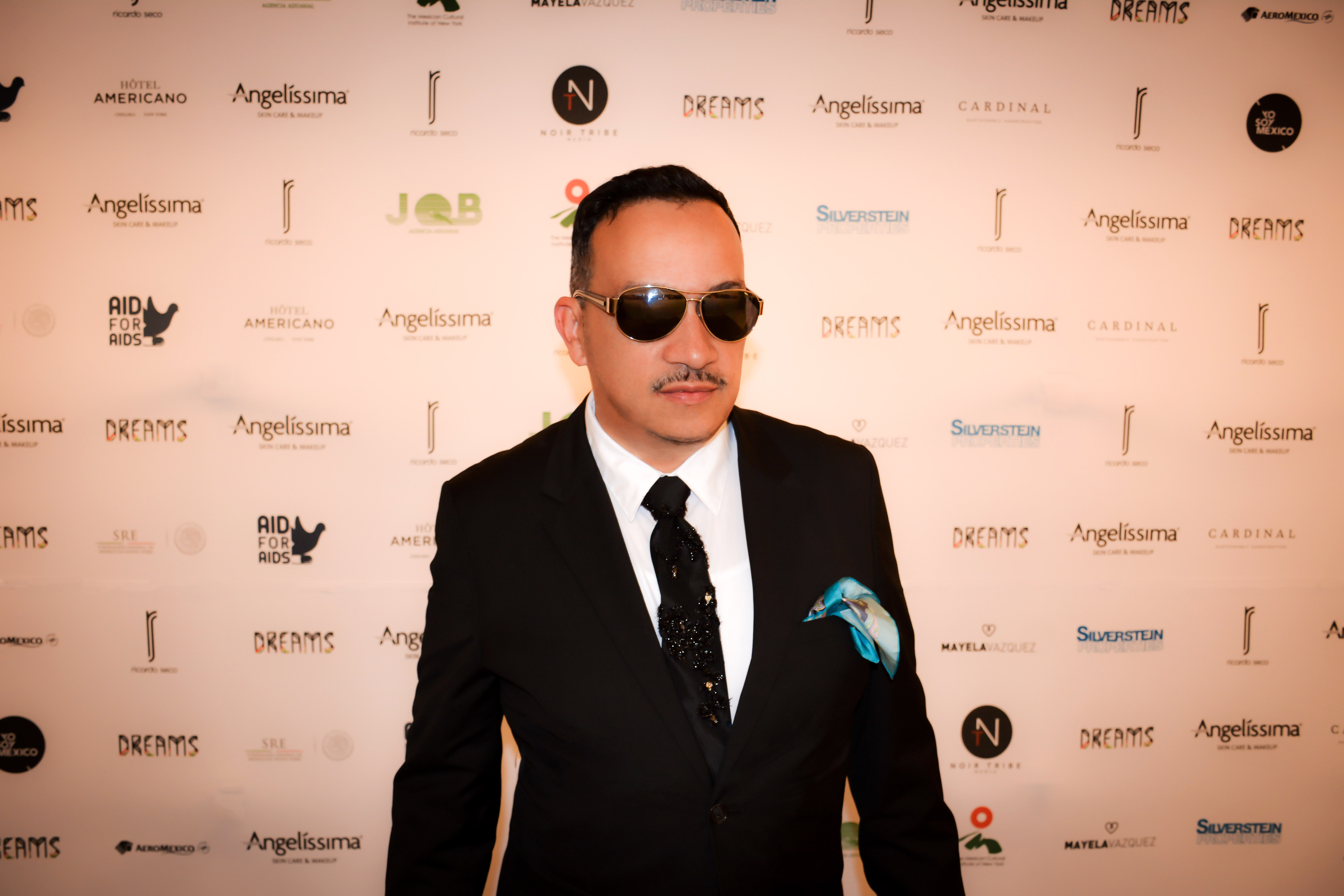 Anthony Rubio on the red carpet at Ricardo Seco's Fashion Show for Mercedes-Benz Fashion Week