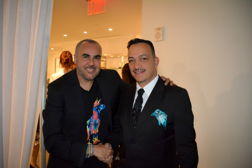 Anthony Rubio with  Ricardo Seco at his  Fashion Show for Mercedes-Benz Fashion Week
