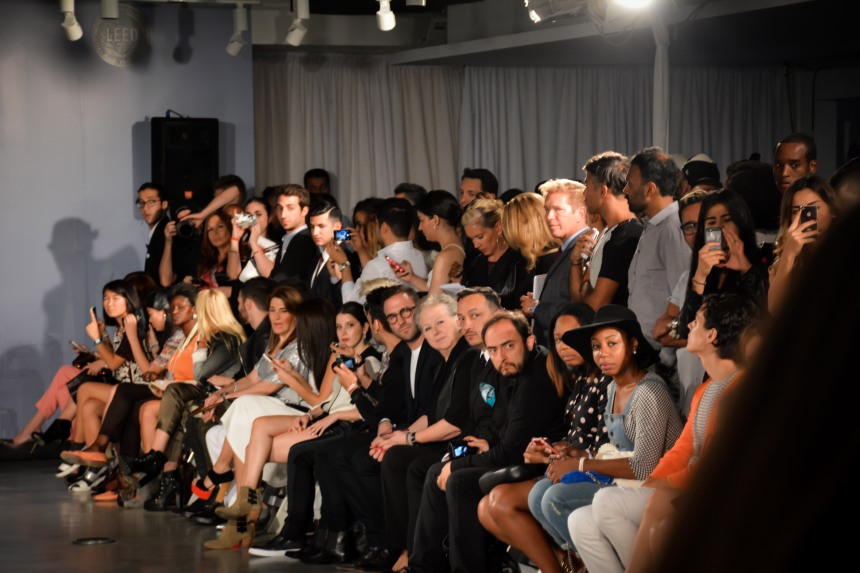 Anthony Rubio sits Front Row at Ricardo Seco's Fashion Show for Mercedes-Benz Fashion Week