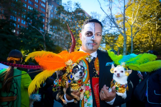 Anthony Rubio attends Halloween Howl & Healthy Hound Fair at Carl Schurz Park