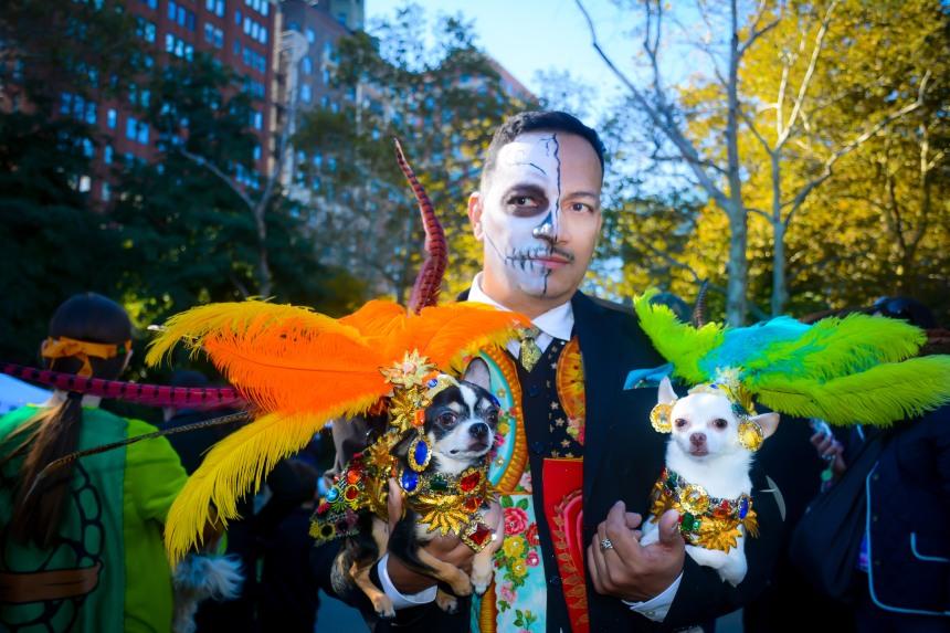 Anthony Rubio attends Halloween Howl & Healthy Hound Fair at Carl Schurz Park