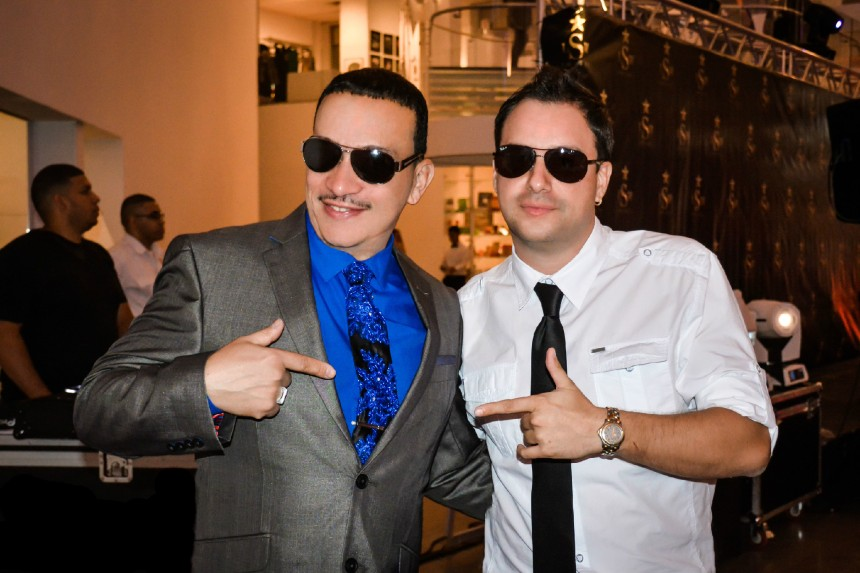 Anthony Rubio and Andre Marcel attend Expo-LatinoShow 2014 at the Queens Museum