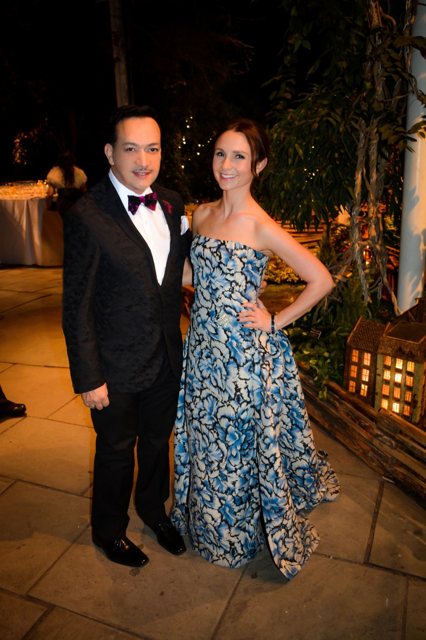 Anthony Rubio with Georgina Bloomberg  at 16th Annual Winter Wonderland Ball at the The New York Botanical Garden