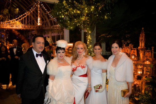 Anthony Rubio with guests at 16th Annual Winter Wonderland Ball at the The New York Botanical Garden