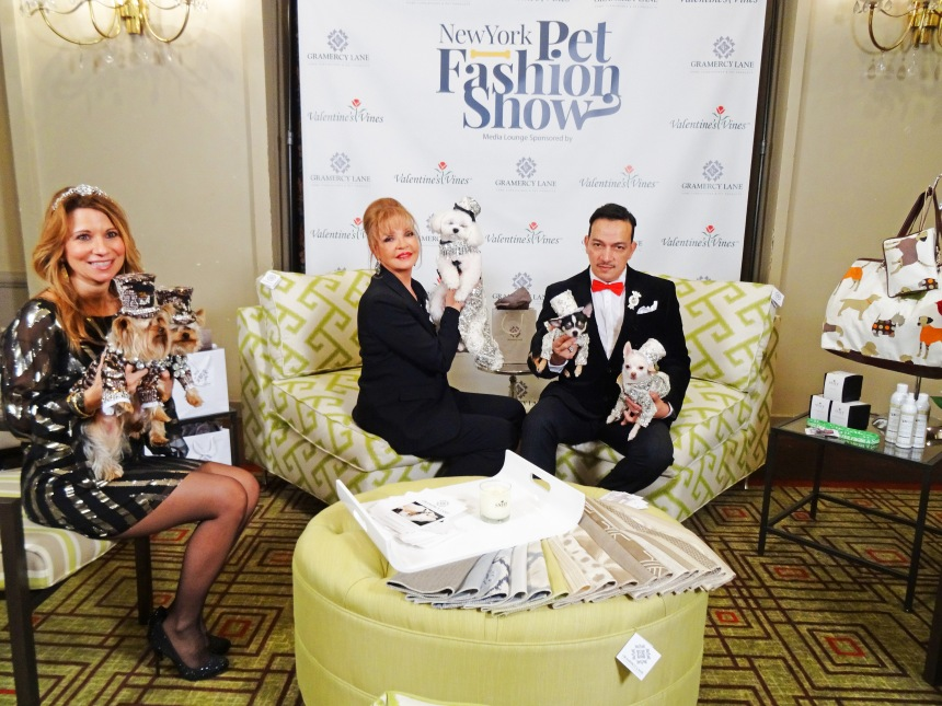 Anthony Rubio Backstaged at the New York Pet Fashion Show