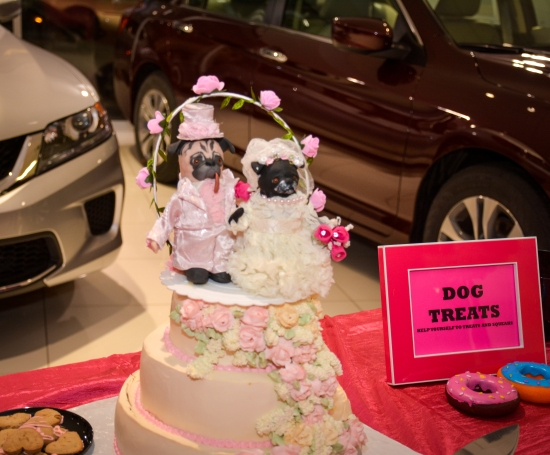 Dog's Wedding Cake at Rose and Kisket's Wedding