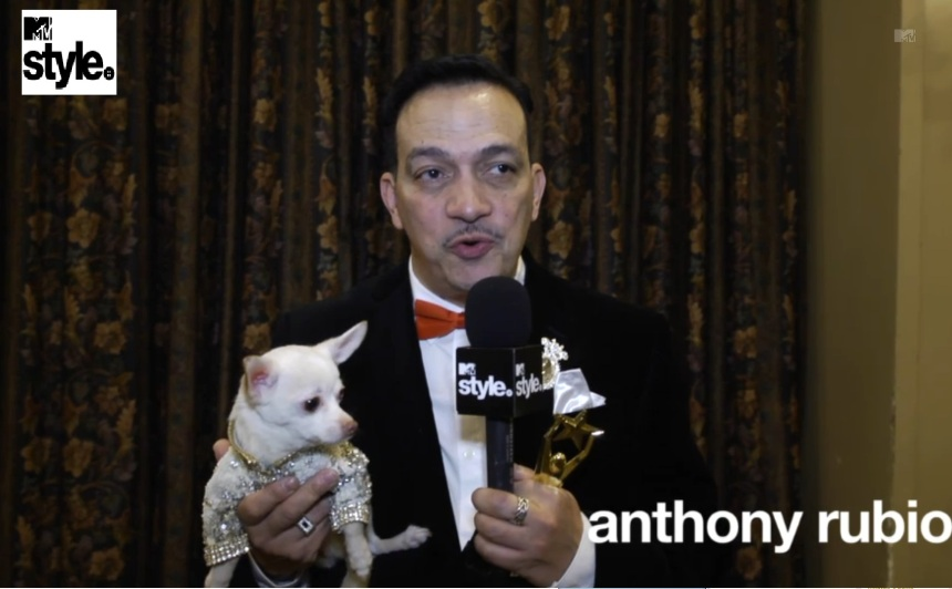 Pet Couturier Anthony Rubio Interviewed for MTV Style for the MTV Network.