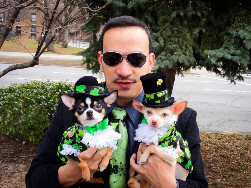 Happy St Patrick's Day! from Anthony Rubio  with Chihuahuas Bogie and Kimba