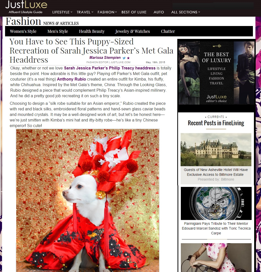 Anthony Rubio featured in LUXE website Press