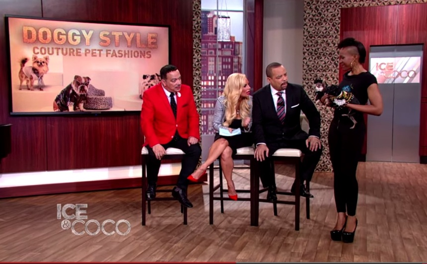 Pet Fashion Designer Anthony Rubio on the premier episode Ice And Coco Daytime Talk Show on August 3rd, 2015
