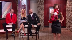 Designer Anthony Rubio with Ice-T and Coco on the set of Ice And Coco talk show on Fox Model Luz Morillo with Chihuahua Kimba wearing Anthony Rubio Designs