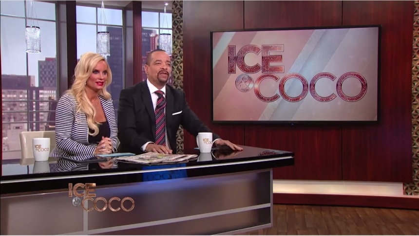 Ice-T and Coco on the set of Ice And Coco talk show on Fox